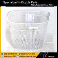 factory supply steel wire pet bicycle basket