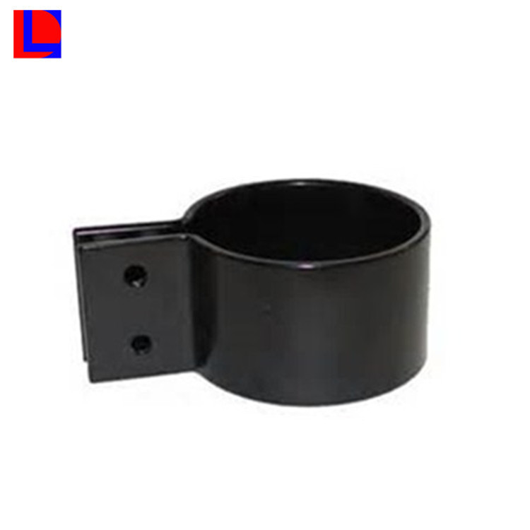 Black anodized 6000 series extrusion punching aluminum round post bracket