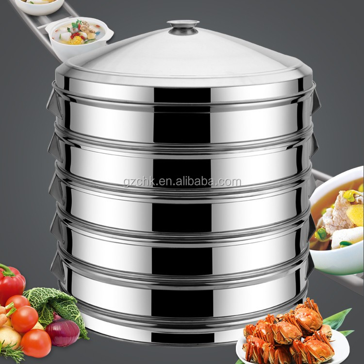 Stainless steel dim sum steamer 5 layer dim sum steamer for Perfect kitchen dim sum