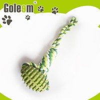 High End Unique Plastic Y Shaped Cotton Rope Durable Dog Chew Toys With Ball