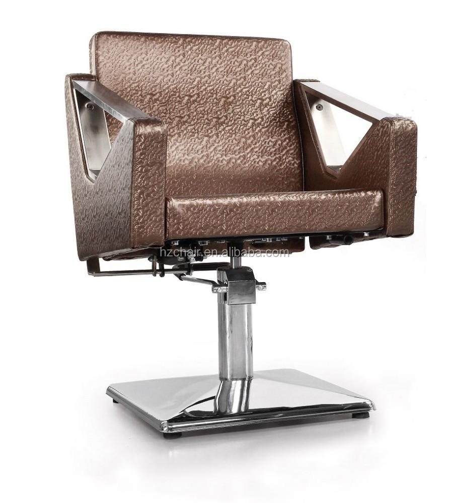 2015 silla de peluquero sedie di barbiere marrone con in for Poltrone da barbiere usate