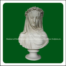 Veiled bust stone girl contemporary sculpture home decoration