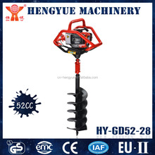 HY-GD52-28 two men operate ground hole drill earth auger of post hole digging tools
