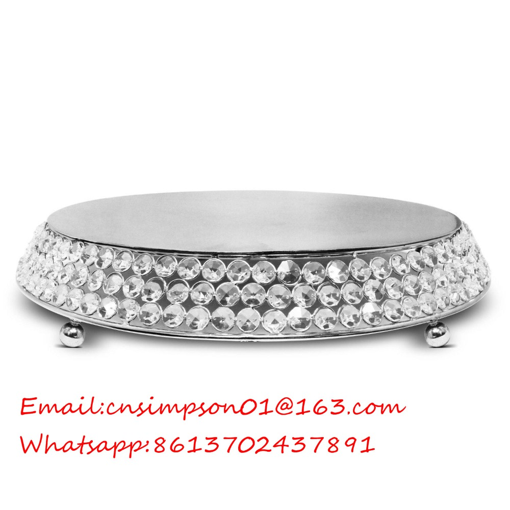 round metal crystal cake stand for wedding cake