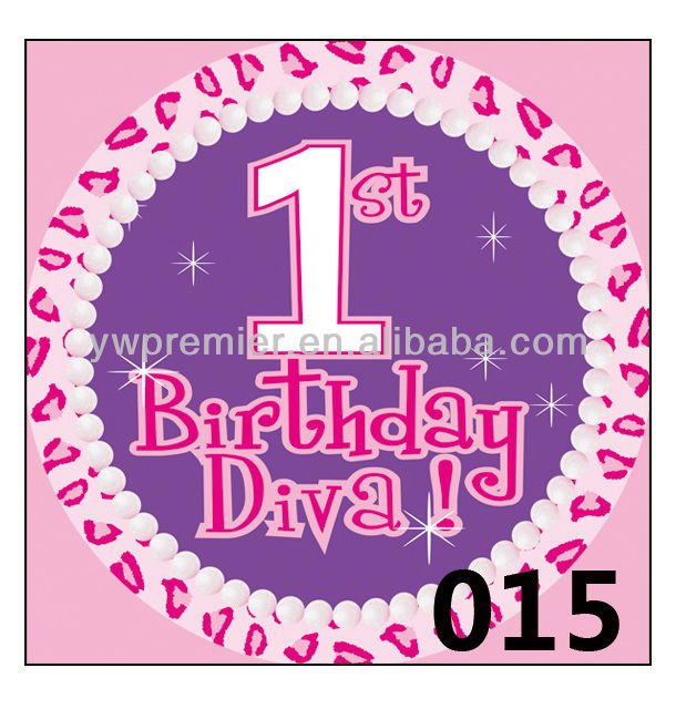 Diva 1st birthday them paper plates