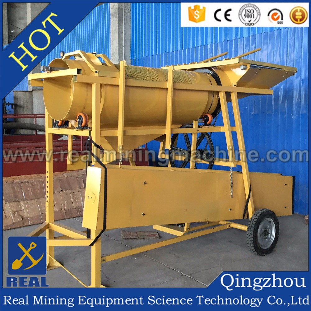 Portable Gold Processing Washing Plant/Rotary Trommel Screen/Sand,Rock Gold Separator Wash /Mobile Drum Scrubber