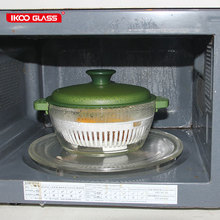 High temperature resistant glass steamer pot with pp lid