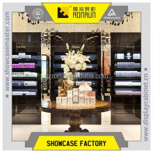 Perfume display high cabinet for city center shopping mall retail store and display round table