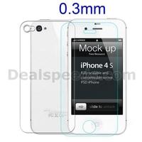 NILLKIN 0.3MM Nano Anti-burst Tempered Protective Glass Film Screen Protector for iPhone 4/ 4S
