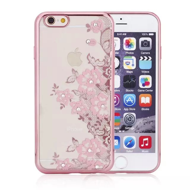 Electronic Accessory S Line Soft Gel TPU Back Cover Phone Case for iphone 6 plus 6s plus