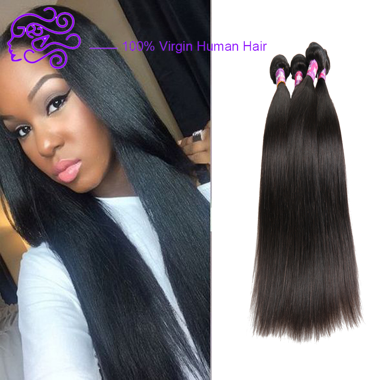 Aliexpress Factory Price Wholesale 8-30 inch Virgin Human Hair Straight Brazilian Human Hair Weaving