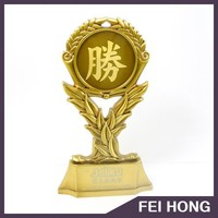 Gold trophy custom 3D cups with logo/metal award for souvenir gifts