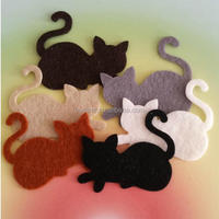 animal design craft felt fabric, felt cats