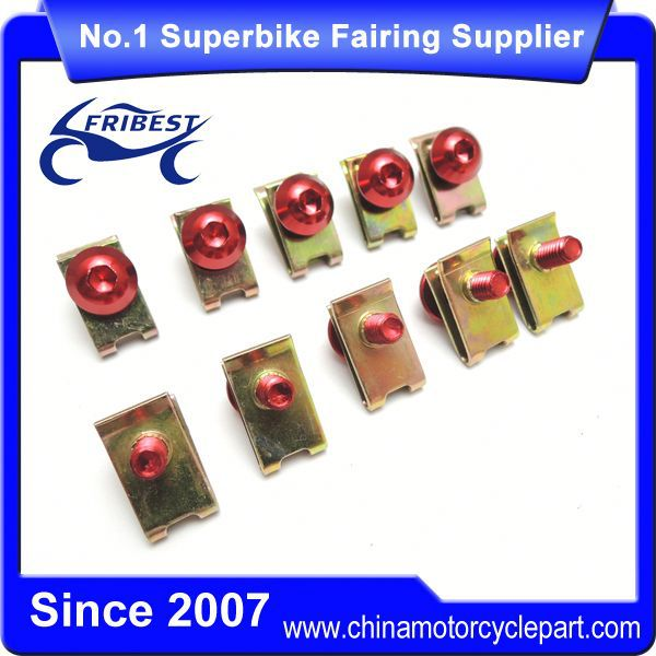 FBTUN009RD Universal New Stainless Fairing Bolt Kit For R1 R6 R9 Motorcycle Fairings Red