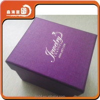 XHFJ hand made hot stamping laser cut jewelry box