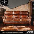 genuine leather sofa A118
