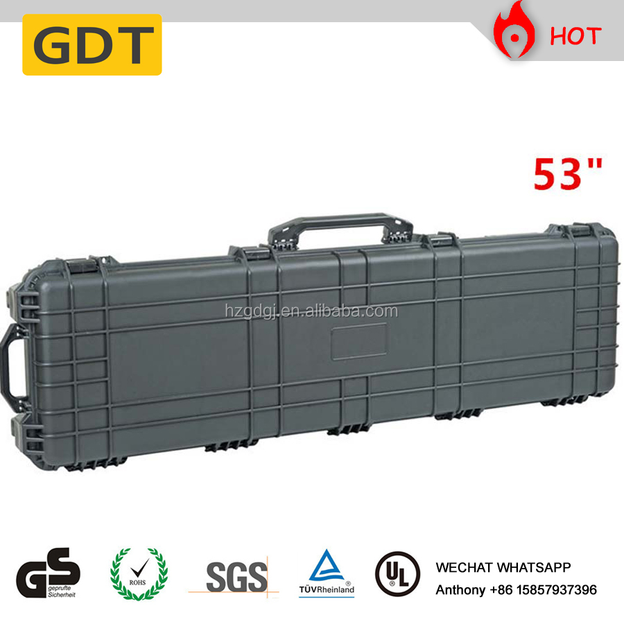 Hard plastic case military gun case gun EVA foam box water proof gun case