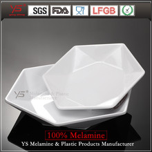 Customized luxury tableware hot hotel earthware hexagon shape melamine plate all size catering