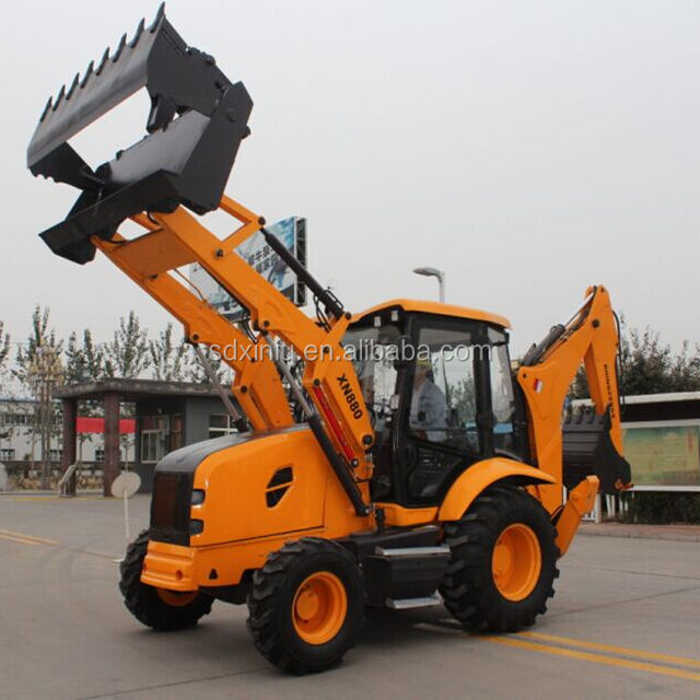 cheap price mini backhoe loader small backhoe loader with CE certificate 8000kg and breaker for rocks