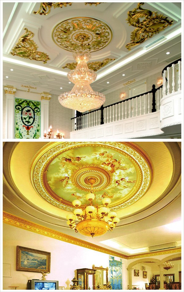 High-end Restaurant Wall Decor Small Durable Gypsum Ceiling Rose ...