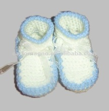 100%cotton hand infant crochet booties baby 3D wholesale sock