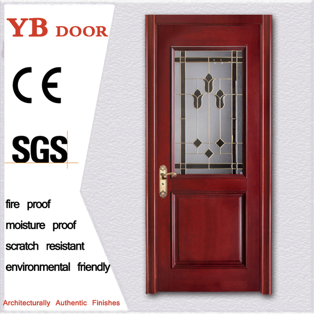 alibaba trade assurance paint colors half glass cheap house doors for sale lowest internal panel wood doors YBVD-6067
