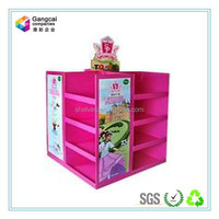 big supermarket retail promotion paper display stand