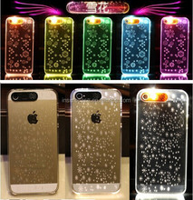 2015 Factory low price hot selling Clear PC Material calling flashing led light phone case for iphone 6 & 6 plus