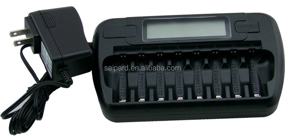 8 channel ni cd 2 3 aa rechargeable battery charger