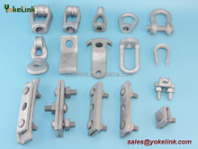 thimble eye nut, guy clamp, anchor shackle for distribution hardware /transmission hardware