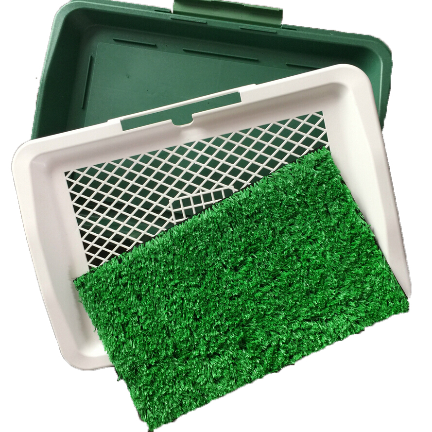 Pet Dog Training toilet Grass Pad Pet plastic lawn Park Potty Patch Mat