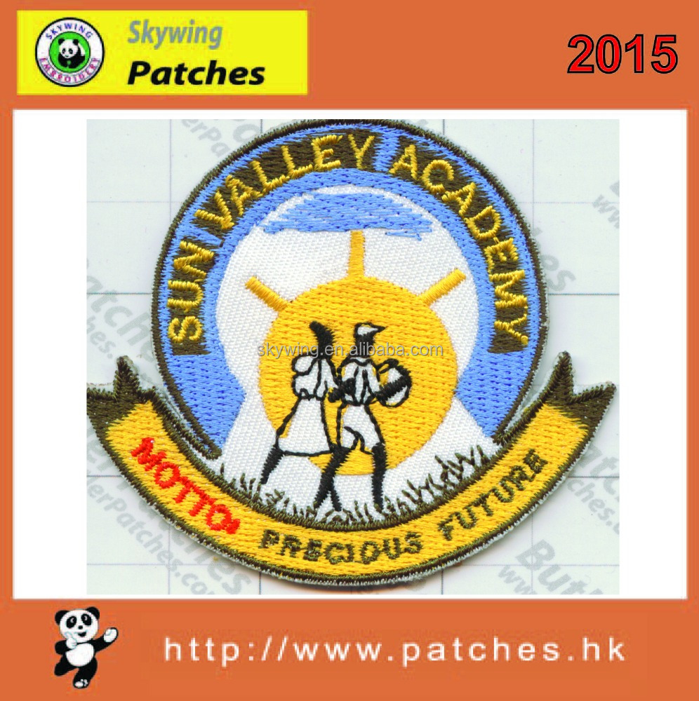 100% embroidery for embroidery patch accessory decoration