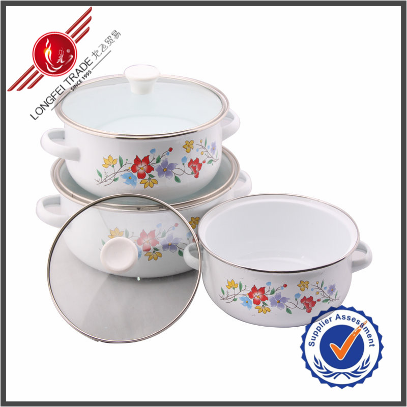 New Products Kitchen Utensil 3 Piece Enamelware Casserole