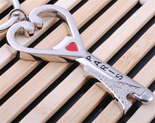 Hot sale high quality custom shape wedding favor souvenir wine bottle opener