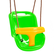 2018 new design hot sale outdoor safety hanging swing kids children plastic patio swings