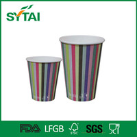 Wholesale 16oz hot sell pe coated custom cold drink coffee paper cups with different colors
