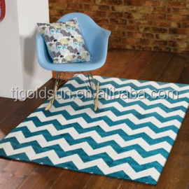 alibaba express of best selling zig zag microfiber strips rug carpet