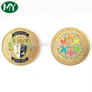 Manufactory production custom gold and silver metal coins