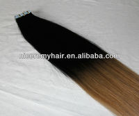 wholesale cheap ombre Brazilian virgin remy human hair pu skin weft tape hair extensions