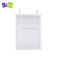 Edgelight illuminated advertising double sides indoor magnetic lock