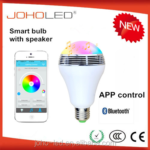 Hot sale android Apple control smart 7w bluetooth rgb smart led bulb