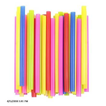 Color Plastic Party Drink Smoothie Straws
