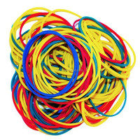 Colorful customized white rubber band