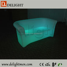 Remote Control Color Changing Illuminated LED Three Seat Sofa for Living Room