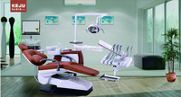 Dental Chair with Color Unit Box Top Mounted Operation Tray