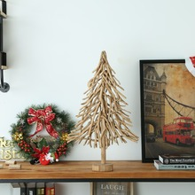 Natural Small Driftwood Christmas Tree Holiday Decorations for Unique Home Decor