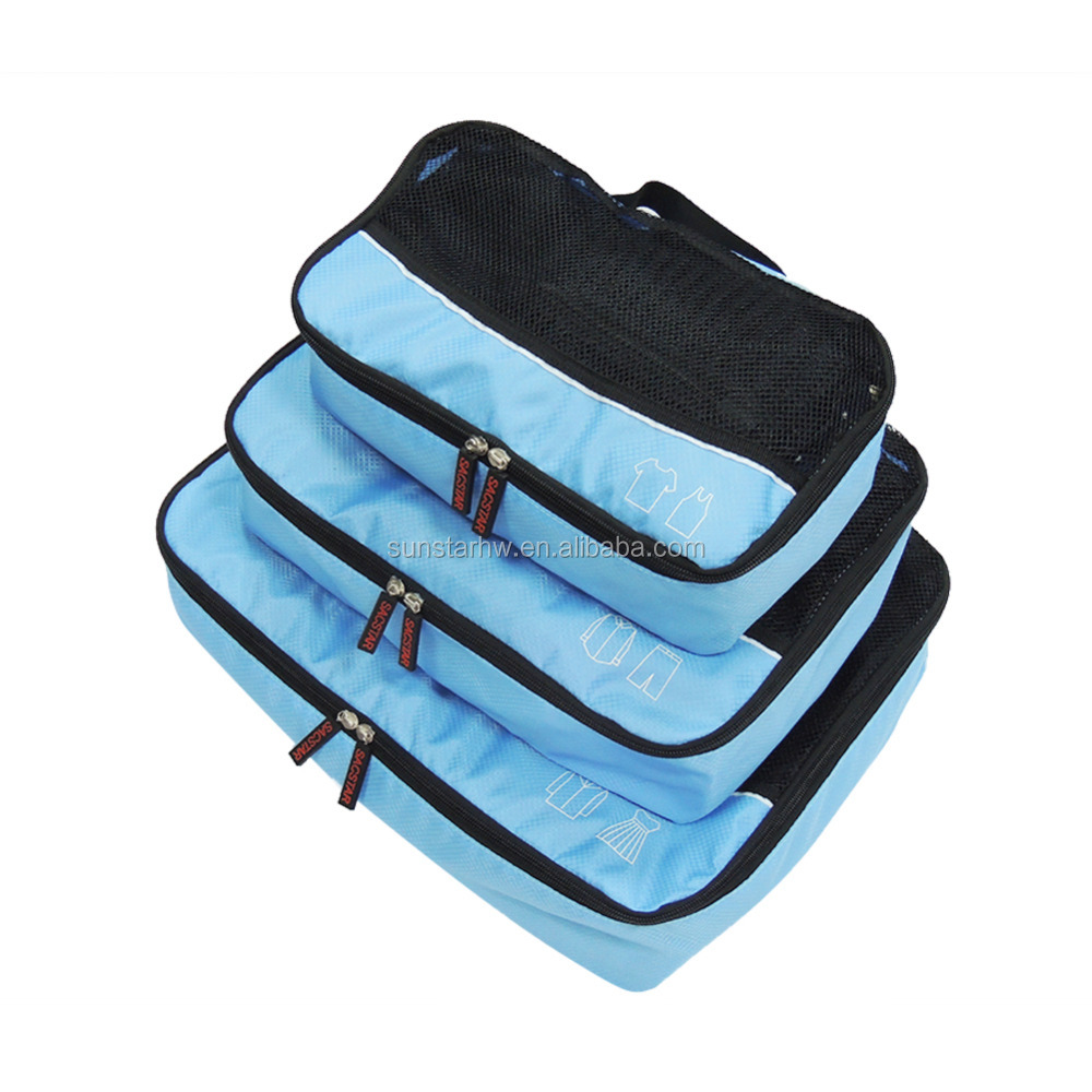 Hot sale 3 pcs travel bag organizer for clothing storage