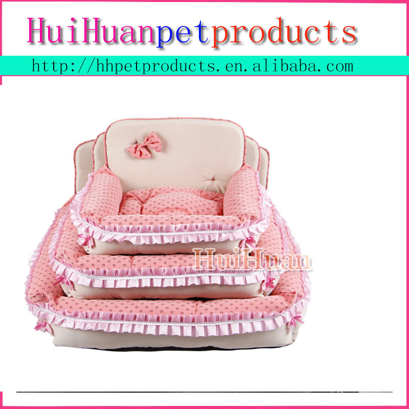 Lovely pet house plush pet bed soft dog home