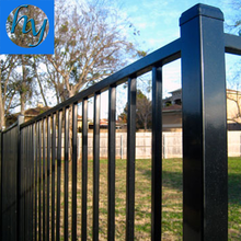 iron 2.1m height 2.4m width black 4ft metal bar fence panel