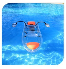 safety and unsinkable plastic transparent kayak and polycarbonate boat